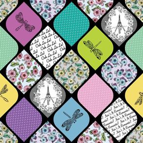 Spring in Paris Quilt by ArtfulFreddy
