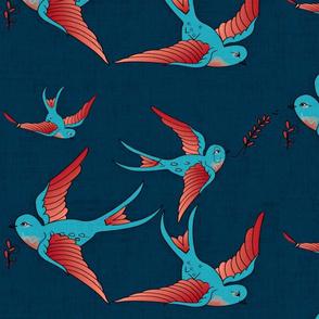 Feeding  the tatoo birds.
