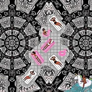 Basking Babes Kaleidoscope V.1