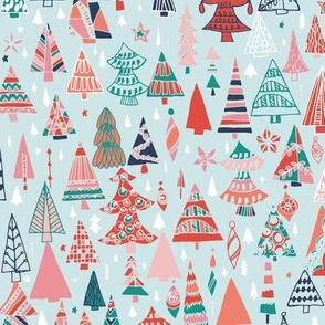Pastel Christmas Trees