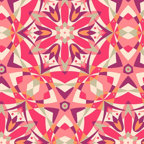 Art Nouveau Kaleidoscope warm by Pippa Shaw