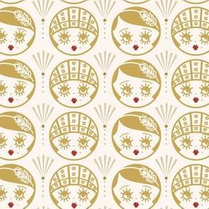 Art Deco Flapper Girls- Gold&Lipstick