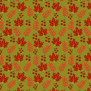 Warm autumn pattern