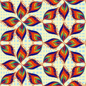 Hermione  Abstract Retro Floral Shapes