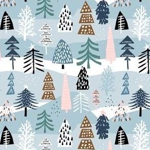 Holiday winter tree