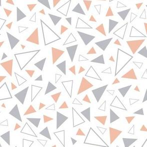 Orange and grey triangels