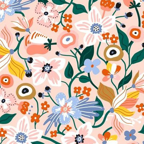 Blooming floral pattern