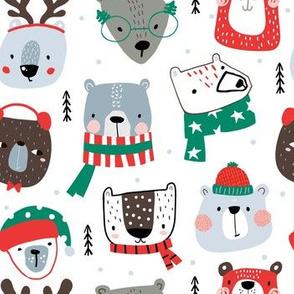 Funny holiday bears