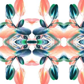 Teal and Peach Kaleidoscope Foliage