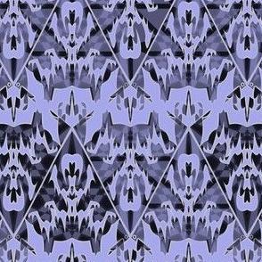 Gothic Victorian Damask - Haunted Halloween Lace Filigree -- Alchemy in Dark Periwinkle Purple
