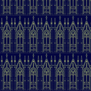 Church Door Blue Print