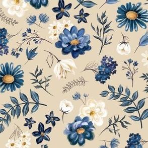Blue Floral Talavera