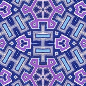 Mod aztec snowflake blue and purple