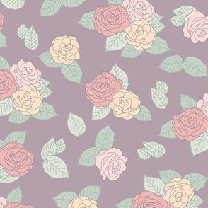 Romantic purple roses