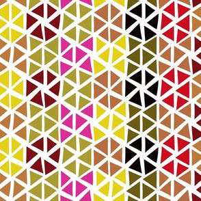 Modern vibes - triangles green and pink