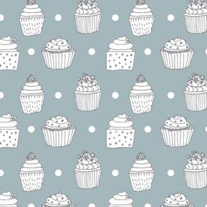 Hello cupcake - pastel green pattern