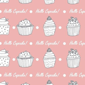 Hello Cupcake - pink pattern