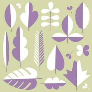 Minimal leaves in sage and lilac