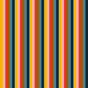 Magical peony stripes / L