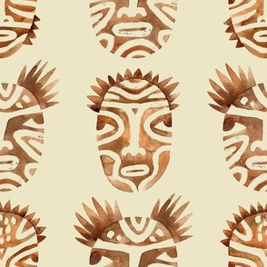Ritual faces / Brown