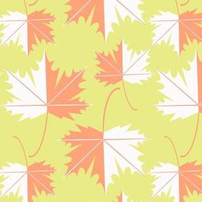 Neon simple maple leaf