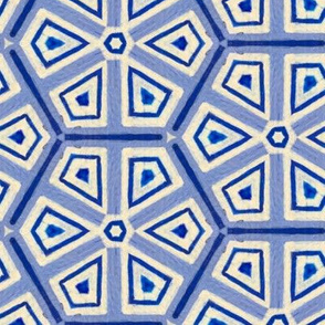 hand painted blue and white iznik tile