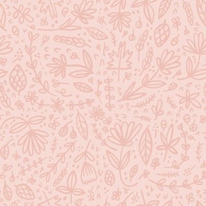 Pink Handdrawn Floral