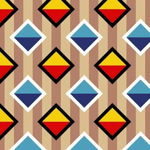 09436308 : diamond on stripe : trendy1940s