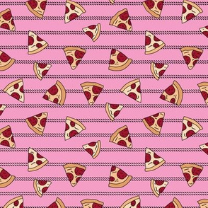 Pizza lovers slice fast food pop art drawing and stripes design pink girls