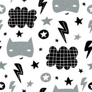 Hero mask cute pattern