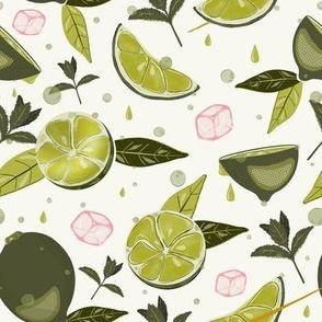 Fresh lime pop art