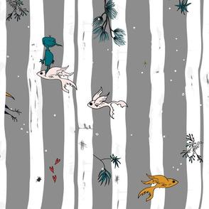 Whimsical Woodlands - Batik + Hand Drawn
