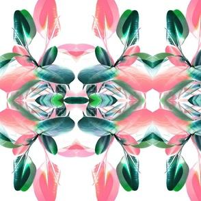 Pink and Emerald Green Kaleidoscope Foliage