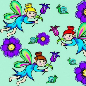 "Floral Fairies ""The Garden Variety"" Seeded Blooms"