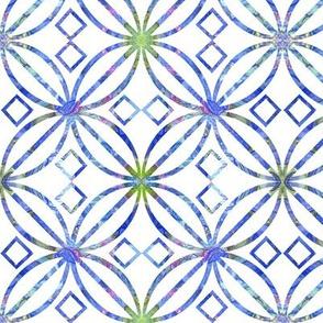 Blue Art Nouveau