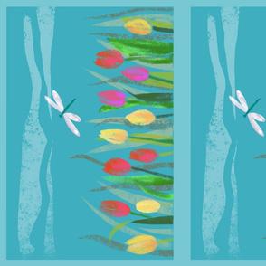 Sunny Tulips & Dragonfly