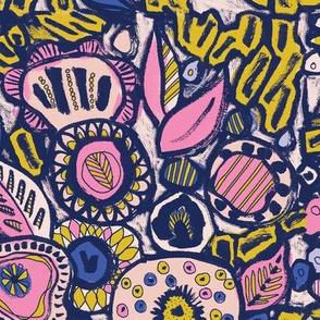 Wacky pop art floral
