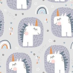 Cute unicorns with rainbows
