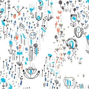 Gelato floral doodle