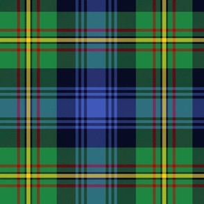 """Grant Ancient Hunting tartan, 12"""" modern, larger more prominent yellow stripe"""