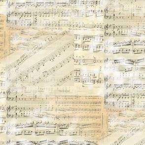 Vintage Sheet Music Collage