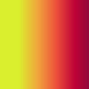 19-14af Sunset Yellow Red Orange Ombre Gradient Blender Stripe Solid