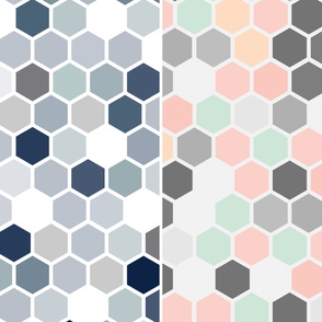 "19-14ac 116"" Hexagon Quilt Panel"