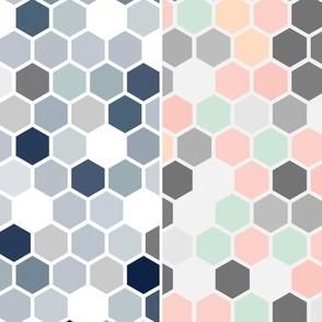 "19-14ac 116"" Hexagon Quilt Panel"