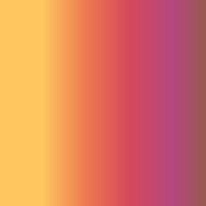 19-14ab Autumn yellow orange pink purple brown gradient ombre stripe Rainbow blender