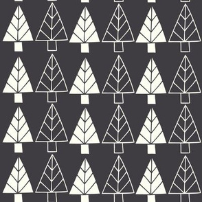 Christmas Trees in charcoal black