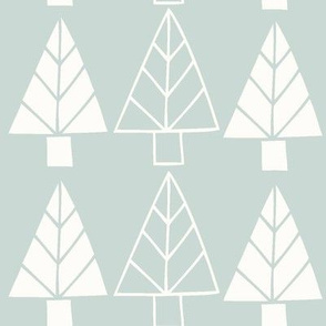 Christmas Trees in turquoise