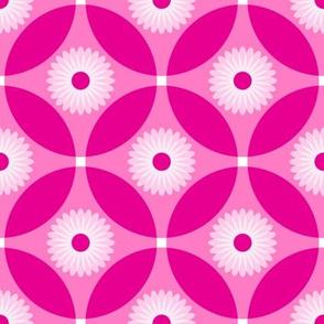 Fuchsia Pink Flower Circle Lock Pattern