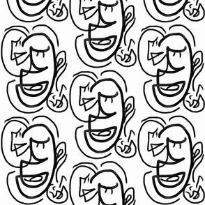 faces b&w