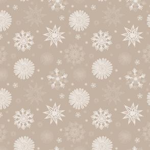 Straw Snowflakes Beige